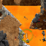 Screenshot of Volcano Escape scenario