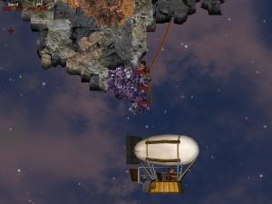 Grab gems from sky islands.
